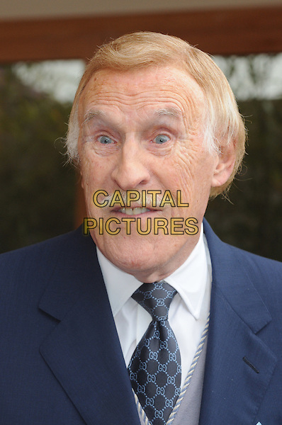 Sir Bruce Forsyth.RHS Chelsea Flower Show Press and VIP Day at Royal Hospital Chelsea, London, England..May 21st 2012.headshot portrait blue white moustache mustache facial hair funny.CAP/PP/BK.©Bob Kent/PP/Capital Pictures.