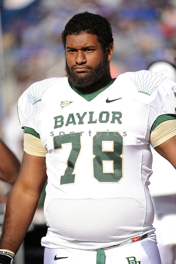 IVORY WADE, of the Baylor Bears, in action during Baylor's game against the Kansas Jayhawks on November 12, 2011 at memorial Stadium in Lawrence, KS. Baylor beat Kansas 31-30 (OT).