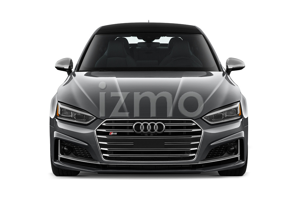 Car photography straight front view of a 2018 Audi S5 Sportback 3.0T Premium Plus quattro Tiptronic 5 Door Hatchback