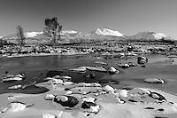 The River Ba and the Bridge of Orchy Mountains, Rannoch Moor, Argyll & Bute, Scotland