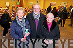 Marion Burke, Peter Egan and Brenda Hanifin, Rock St. and Castlegregory  at the public meeting of a national campaign to get local services maintained in rural  post offices held at the Carlton Hotel on Tuesday