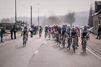 World Champion Peter Sagan (SVK/Bora-Hansgrohe) checking out the competition during the race finale<br /> <br /> 81st Gent-Wevelgem in Flanders Fields (1.UWT)<br /> Deinze &gt; Wevelgem (251km)