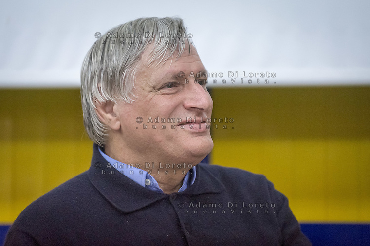 Don Luigi Ciotti during the conference, on October 08, 2015. Photo: Adamo Di Loreto/BuenaVista*photo