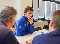 September 10, 2014,Netherlands, Amsterdam, Ziggo Dome, Davis Cup Netherlands-Croatia, Press conference, Dutch team:  Robin Haase, <br /> Photo: Tennisimages/Henk Koster