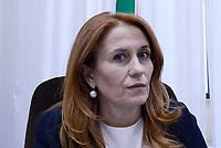 Roma,19 Aprile 2017.<br /> Monica Maggioni .<br />  La Commissione parlamentare per l'indirizzo generale e la vigilanza dei servizi radiotelevisivi, svolge l'audizione della presidente RAI, Monica Maggioni,