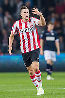 EINDHOVEN - PSV -  Willem II, Philips stadion, 20-10-2012, voetbal, eredivisie, seizoen 2012-2013.    PSV speler Kevin Strootman zweept publiek op. .Foto Pro Shots / Insidefoto .ITALY ONLY
