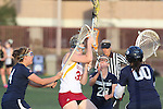 Santa Barbara, CA 02/18/12 - Andie Martin (Arizona State #30), Sarah Brothers (BYU #24), Megan McCleary (BYU #0) and Shelly Smith (BYU #4) in action during the Arizona State vs BYU matchup at the 2012 Santa Barbara Shootout.  BYU defeated Arizona State 10-8.