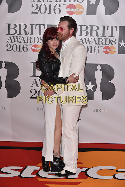 LONDON, ENGLAND - FEBRUARY 24: US singer and Eagles of Death Metal band member Jesse Hughes (R)attends the BRIT Awards 2016 at The O2 Arena on February 24, 2016 in London, England<br /> CAP/PL<br /> &copy;Phil Loftus/Capital Pictures