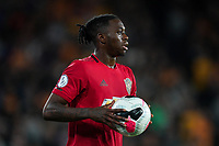 Aaron Wan-Bissaka of Man Utd during the Premier League match between Wolverhampton Wanderers and Manchester United at Molineux, Wolverhampton, England on 19 August 2019. Photo by Andy Rowland.
