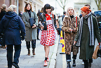 Susie Bubble attends Day 2 of London Fashion Week on Feb 21, 2015 (Photo by Hunter Abrams/Guest of a Guest)
