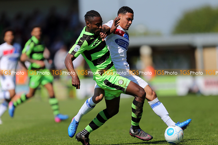 Dale Bennett of Forest Green Rovers sand Corey Whitely of Dagenham and Redbridge during Forest Green Rovers vs Dagenham & Redbridge, Vanarama National League Play-Off Football at The New Lawn on 7th May 2017