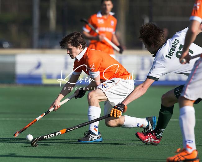 BLOEMENDAAL - Hockey - Wouter Jolie van Bloemendaal  tijdens de competitiewedstrijd tussen de mannen van Bloemendaal en Rotterdam (3-1) . FOTO KOEN SUYK