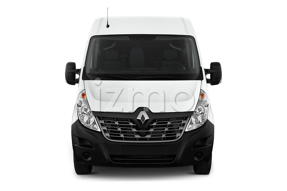 Car photography straight front view of a 2019 Renault Master L3h2 4 Door Cargo Van