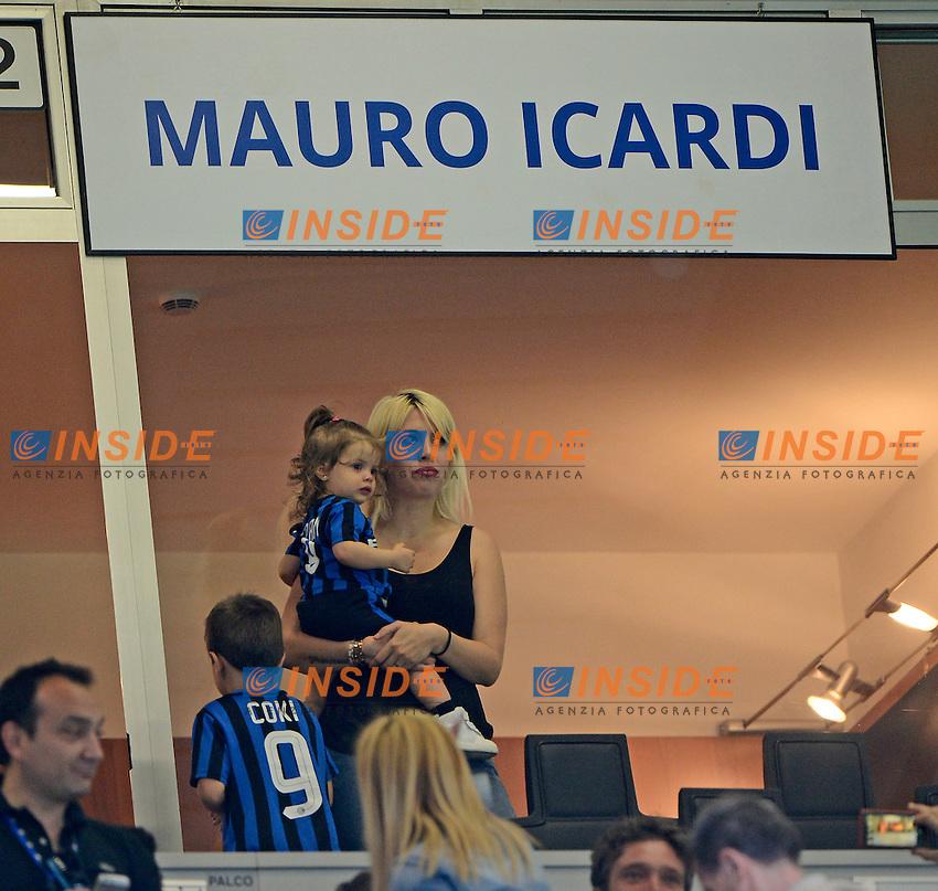 Wanda Nara e Francesca Icardi<br /> Milano 7-05-2016 Stadio Giuseppe Meazza - Football Calcio Serie A Inter - Empoli. Foto Giuseppe Celeste / Insidefoto