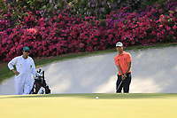 Michael Kim (USA) on the 13th green during the 1st round at the The Masters , Augusta National, Augusta, Georgia, USA. 11/04/2019.<br /> Picture Fran Caffrey / Golffile.ie<br /> <br /> All photo usage must carry mandatory copyright credit (© Golffile | Fran Caffrey)