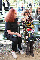 Grace Coddington and Anna Wintour at NINA RICCI Spring/Summer 2018 Ready-to-Wear Fashion Show at Paris Fashion Week in Paris, France in September 2017. Credit: GOL/Capital Pictures /MediaPunch ***NORTH AND SOUTH AMERICAS ONLY***