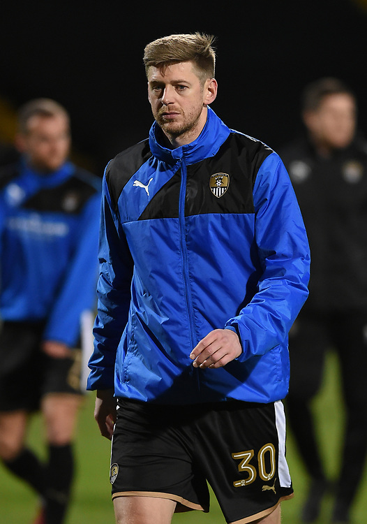 Notts County's Jonathan Stead during the pre-match warm-up <br /> <br /> Photographer Jon Hobley/CameraSport<br /> <br /> The EFL Sky Bet League Two - Notts County v Crawley Town - Tuesday 23rd January 2018 - Meadow Lane - Nottingham<br /> <br /> World Copyright &copy; 2018 CameraSport. All rights reserved. 43 Linden Ave. Countesthorpe. Leicester. England. LE8 5PG - Tel: +44 (0) 116 277 4147 - admin@camerasport.com - www.camerasport.com