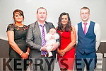 Baby Darragh Sheehan with his parents Paul Sheehan & Theresa Greaney and god parents Helen Greaney & David O'Brien who was christened in Kilflynn Church by Fr. O'Mahony On Saturday last and afterwards in Herberts Bar, Kilflynn.