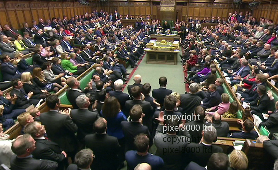 Pic shows: Syria debate<br /> <br /> A round of applause for Hilary Benn after a rousing speech in favour of bombing<br /> <br /> <br /> <br /> <br /> Pic by Pixel 8000 Ltd