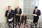 Pictured at the opening of the Tralee Chamber Alliance offices on Monday Kieran Ruttledge, Mayor Johnny Wall, Margaret Dwyer and Padraig McGillycuddy.