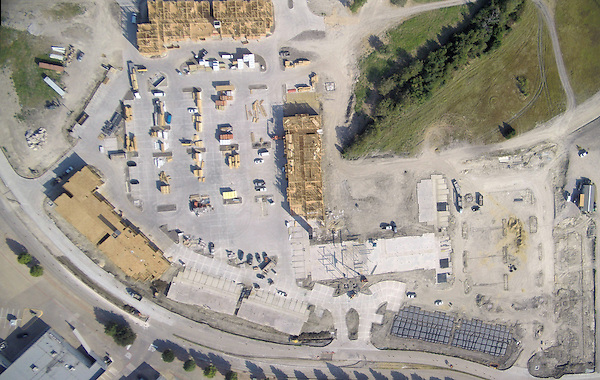 Aerial photography progression photography of  apartment construction site Allen, Texas.