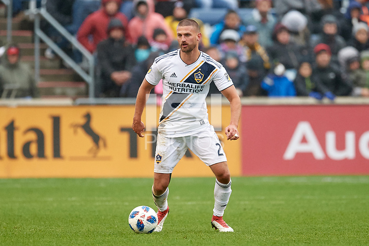 Bridgeview, IL - Saturday April 14, 2018: Perry Kitchen during a regular season Major League Soccer (MLS) match between the Chicago Fire and the LA Galaxy at Toyota Park.  The LA Galaxy defeated the Chicago Fire by the score of 1-0.