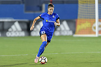 Frisco, TX - Sunday September 03, 2017: Katlyn Johnson during a regular season National Women's Soccer League (NWSL) match between the Houston Dash and the Seattle Reign FC at Toyota Stadium in Frisco Texas. The match was moved to Toyota Stadium in Frisco Texas due to Hurricane Harvey hitting Houston Texas.