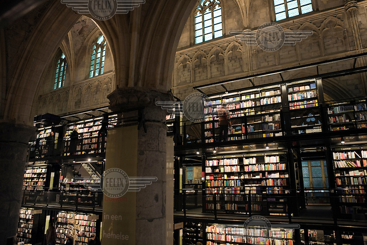 Selexyz bookshop, housed in Maastricht's 13th Century Dominican Church.
