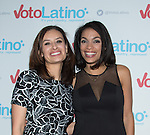 WASHINGTON, DC - March 4: Maria Teresa Kumar and Rosario Dawson attend Voto Latino's 10 year anniversary at Hamilton Live on March 4, 2015 in Washington, D.C. Photo Credit: Morris Melvin / Retna Ltd.