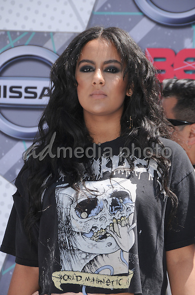 26 June 2016 - Los Angeles. Bibi Bourelly. Arrivals for the 2016 BET Awards held at the Microsoft Theater. Photo Credit: Birdie Thompson/AdMedia