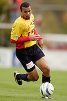 Leonard Griffin of the Fire. The MetroStars defeated the Chicago Fire 2-0 during the inaugural Hall of Fame game on Monday October 11, 2004 at At-A-Glance Field at the National Soccer Hall of Fame and Museum, Oneonta, NY..