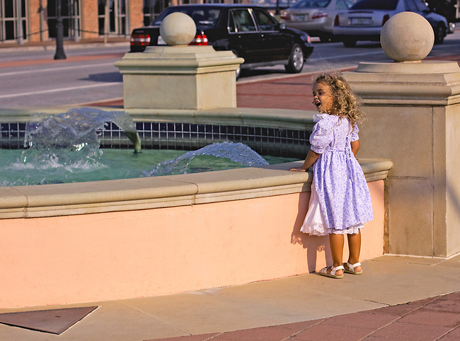 Little Girl at fountain.