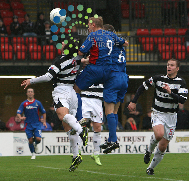 Richie Foran scores for Inverness during the Irn-Bru First Division match between Ayr Utd and Inverness CT at Somerset Park 24/10/09..Picture by Ricky Rae/universal News & Sport (Scotland).