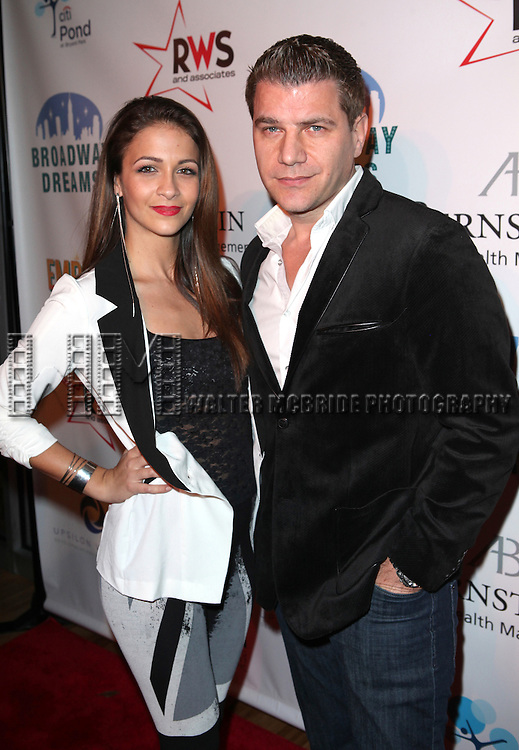 Kaitlin Monte & Tom Murro attending the Broadway Dreams Foundation's 'Champagne & Caroling Gala' at Celsius at Bryant Park, New York on December 10, 2012