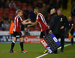 Reece Brown of Sheffield Utd makes his debut during the League One match at Bramall Lane Stadium, Sheffield. Picture date: September 27th, 2016. Pic Simon Bellis/Sportimage