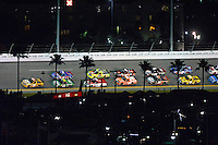 18-19 February, 2016, Daytona Beach, Florida USA<br /> Grant Enfinger leads the field through turn 3.<br /> ©2016, F. Peirce Williams