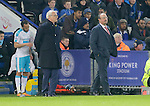 Managers Claudio Ranieri of Leicester City and Rafa Benitez of Newcastle look on during the Barclays Premier League match at The King Power Stadium.  Photo credit should read: Malcolm Couzens/Sportimage