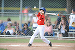 Jackson Newman singles in the Germantown Baseball League all star game at Cameron Brown Park in Germantown, Tenn. on Wednesday, June 3, 2015. The Red team won 4-2.