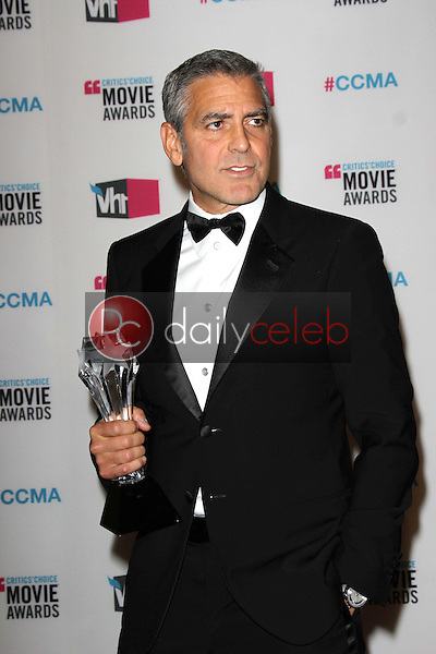 George Clooney<br /> at the 17th Annual Critics' Choice Movie Awards, Palladium, Hollywood, CA  01-12-12<br /> David Edwards/DailyCeleb.com 818-249-4998