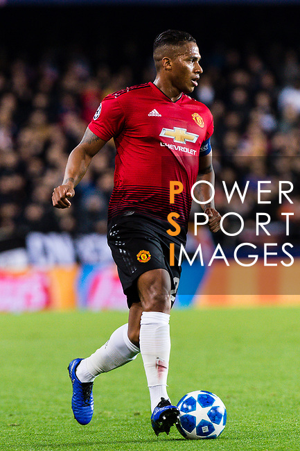Antonio Valencia of Manchester United runs with the ball during the UEFA Champions League 2018-19 match between Valencia CF and Manchester United at Estadio de Mestalla on December 12 2018 in Valencia, Spain. Photo by Maria Jose Segovia Carmona / Power Sport Images