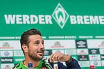 08.10.2018, Mixed Zone - Weserstadion, Bremen, GER, 1.FBL, Werder Bremen, Claudio Pizarro (Werder Bremen #04) Mixed Zone, <br /> <br /> im Bild<br /> Claudio Pizarro (Werder Bremen #04), <br /> <br /> Foto © nordphoto / Ewert