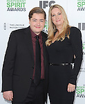 Michael Gandolfini and Marcy Wudarski<br />  attends The 2014 Film Independent Spirit Awards held at Santa Monica Beach in Santa Monica, California on March 01,2014                                                                               &copy; 2014 Hollywood Press Agency