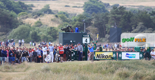 Graeme MCDOWELL (NIR) during round 4 of  The 142th Open Championship Muirfield, Gullane, East Lothian, Scotland 21/7/2013<br /> Picture Fran Caffrey www.golffile.ie: