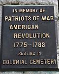 Savannah Colonial Park, Cemetery 2016