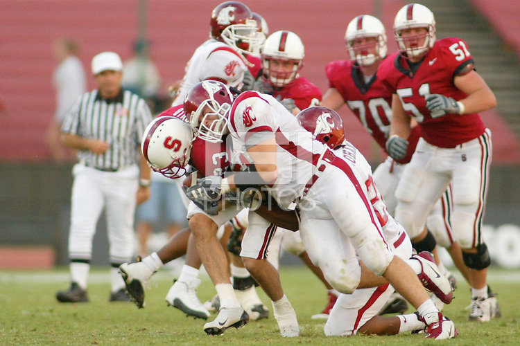 18 October 2003: Action during Stanford's game vs. Washington State at Stanford Stadium in Stanford, CA.