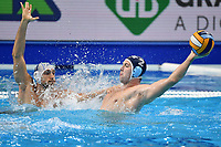 11 AICARDI Matteo Italy, 2 MANDIC Dusan Serbia <br /> Budapest 26/01/2020 Duna Arena <br /> ITALY (white caps) Vs. SERBIA (blue caps) Men <br /> Final 5th - 6th place <br /> XXXIV LEN European Water Polo Championships 2020<br /> Photo  © Andrea Staccioli / Deepbluemedia / Insidefoto