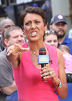 NEW YORK CITY, NY - August 20, 2012: Robin Roberts live on the air hosting Good Morning America in New York City. &copy; RW/MediaPunch Inc. /NortePhoto.com<br />