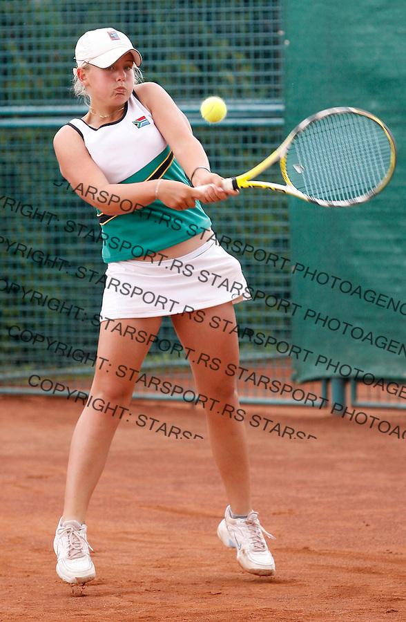 Tennis, world championship, U-14.Brazil Vs. South Africa.Carla Forte (BRA)-Kay-Leigh Nicholas (SA).Kay-Leigh Nicholas.Prostejov, 08.09.2008..Photo: Srdjan Stevanovic.