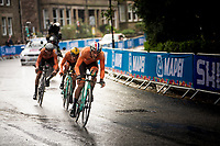 The (winning) Dutch Team<br /> men's relay: Jos Van Emden (NED/Jumbo-Visma), Koen Bouwman (NED/Jumbo-Visma) & Bauke Mollema  (NED/Trek-Segafredo)<br /> <br /> Team Time Trial Mixed  Relay<br /> <br /> 2019 Road World Championships Yorkshire (GBR)<br /> <br /> ©kramon