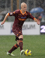 Calcio, Serie A: Lazio vs Roma. Roma, stadio Olimpico, 11 novembre 2012..AS Roma midfielder Michael Bradley, of the United States, in action during the Italian Serie A football match between Lazio and AS Roma, at Rome's Olympic stadium, 11 November 2012..UPDATE IMAGES PRESS/Riccardo De Luca